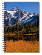 Autumn Colors With Mount Shuksan Spiral Notebook