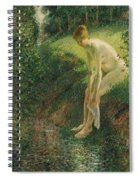 Bather In The Woods  Spiral Notebook
