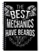 Funny Mechanic Beard Facial Hair Apparel Spiral Notebook