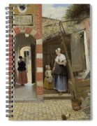 The Courtyard Of A House In Delft  Spiral Notebook
