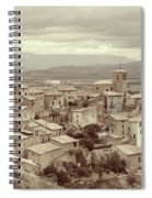 Beautiful Medieval Spanish Village In Sepia Tone Spiral Notebook
