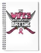 Breast Cancer Awareness Art For Warrior Women Light Dark Spiral Notebook