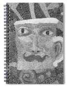 Detail From Sgt. Pepper's Mug Head Spiral Notebook