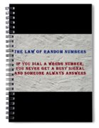 Murphy's Law Of Nature Spiral Notebook