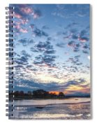 Danvers River Sunset Spiral Notebook