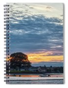 Danvers River Sunset Spiral Notebook