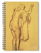 A Bather Drying Herself By E Degas Spiral Notebook
