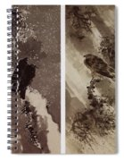 A Black Hawk And Two Crows Spiral Notebook