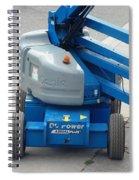 A Boom Lift Genie Z45 Machine Spiral Notebook
