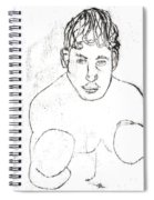 A Boxer Boxing Spiral Notebook