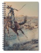 A Bucking Bronco, Edward Borein Spiral Notebook