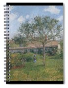 A Corner Of The Meadow At Eragny, 1902 Spiral Notebook