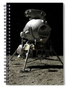 A Cosmonaut On The Moon Spiral Notebook