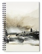 A Crippled Halifax Bomber Lands On The Ice Spiral Notebook