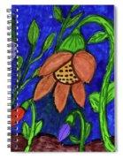 A Flower Garden Spiral Notebook
