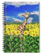 A Friendly Giraffe Hello Spiral Notebook