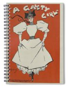 A Gaiety Girl, 1894 French Vintage Poster Spiral Notebook