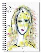 A Girl By The Artist Catalina Lira Spiral Notebook