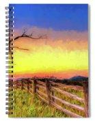 A Gorgeous Blue Ridge Sunrise Ap Spiral Notebook