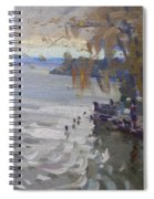 A Gray Fall Day At Fishermans Park Spiral Notebook