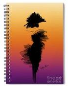 A Little Black Dress In The Sunset Spiral Notebook