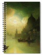 A Moonlit Night Over Venice Spiral Notebook