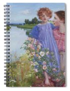 A Mother And Child By A River With Wild Roses 1919 Spiral Notebook