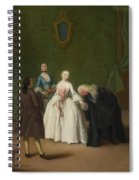 A Nobleman Kissing A Lady S Hand  Spiral Notebook