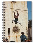 A Pair Of Stuntmen Perform At Old Tucson Spiral Notebook