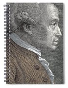 A Portrait Of Immanuel Or Emmanuel Kant Spiral Notebook