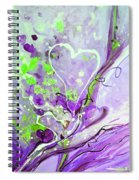 A  Purple Love Story Spiral Notebook