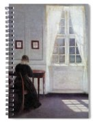 A Room In The Artist's Home In Strandgade, Copenhagen, With The Artist's Wife - Digital Remastered Spiral Notebook