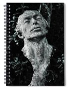A Stone Bust In The Forest Spiral Notebook