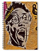 A Terrified Face On A Barcelona Wall  Spiral Notebook