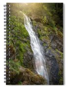 A Touch Of Light On Bridal Veil Falls Spiral Notebook