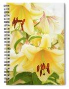 A Tower Of Lilies Spiral Notebook
