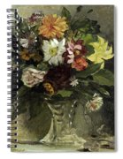 A Vase Of Flowers, 1833 Spiral Notebook