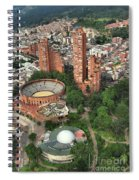 A View Of Downtown Bogota Spiral Notebook