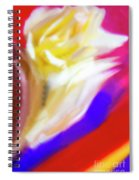 A White Rose In An Abstract Style. Spiral Notebook