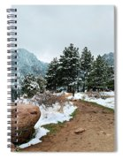 A Winter's Day In The Flatirons Spiral Notebook