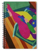 A Woman In A Chair Spiral Notebook