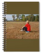 A Woman Is  Sitting In A Park And Admiring The Landscape Spiral Notebook