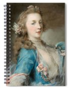 A Young Lady With A Parrot Spiral Notebook