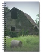 Abandoned Barn And Hay Roll 2018c Spiral Notebook