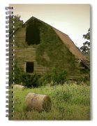 Abandoned Barn And Hay Roll 2018d Spiral Notebook