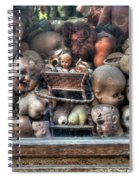 Abandoned Doll Heads Spiral Notebook