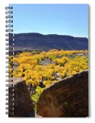 Gorgeous View Of Golden Cottonwood Trees In Canyon Spiral Notebook