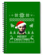 Abraham Lincoln Merry Christmas Spiral Notebook