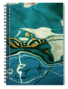 Abstract Boat Reflection V Color Spiral Notebook