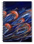 Abstract Dusk Spiral Notebook